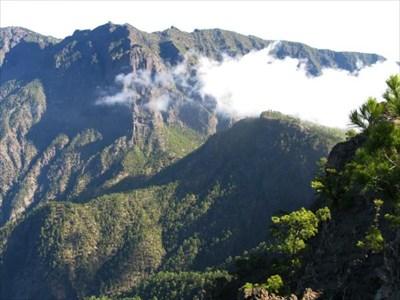 View towards La Cumbrecita from Pico de Bejenado.