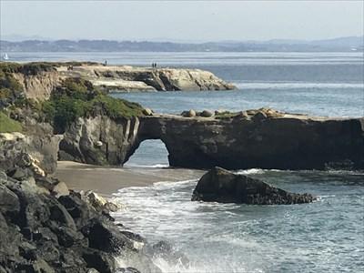 View of West Cliff Arch. Close-up, Santa Cruz, California