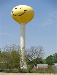 Smiley Face Water Tower