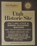 Image for Salt Lake Stock & Mining Exchange Building