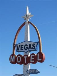 Vegas Sign, Shaded Side, Las Vegas, Nevada