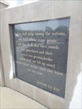 Image for Isaiah 2:4 KJV - Bradford County Veterans Memorial Park, Towanda, PA