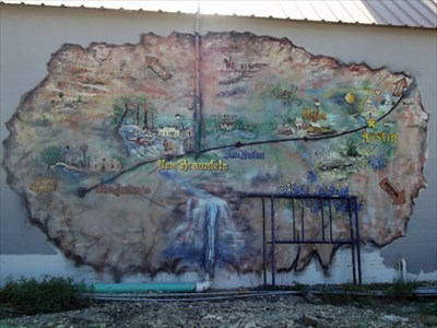 Map Of Texas Kyle.Map Of Central Texas Kyle Tx Murals On Waymarking Com
