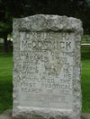 This monument doe NOT mark the grave of Cyrus McCormick. He is buried in teh Graceland Cemetery in Chicago, Illinois.