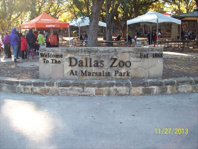 Here is a nearby sign for the zoo near the historic marker.