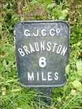 Image for Grand Union Canal Milestone - Whilton, Northamptonshire, UK
