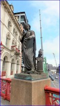 "Image for ""Fine Arts"" statue - Holborn Viaduct, London, UK"