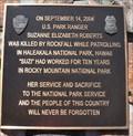 Image for U.S. Park Ranger Suzanne Elizabeth Roberts