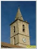 Image for L'horloge du clocher de l'église - Saint Etienne les Orgues, France