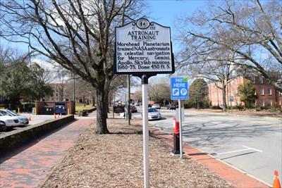 G-132 Astronaut Training - North Carolina Historical Markers