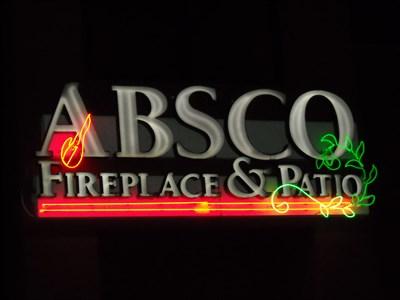Absco Fireplace & Patio in Birmingham, AL - Neon Signs on ...