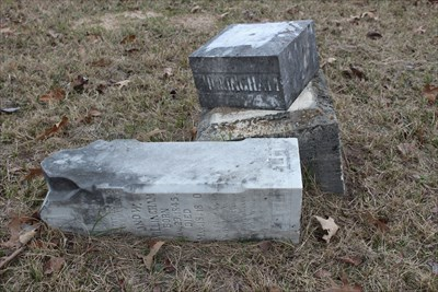A brother, Jonathan W. Willingham, is buried nearby.  Thanks, vandals.