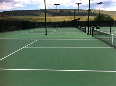 Tennis Courts with Lights, Spring Canyon Park, Fort Collins, CO