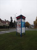 Image for Time & Temperature Sign in Saalfeld/Germany/TH