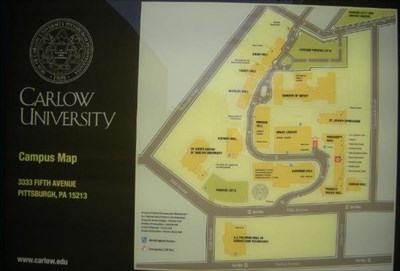 Carlow Campus Map.Carlow College Pittsburgh Pennsylvania You Are Here Maps On