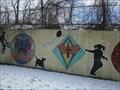 Image for Mural 1 along Neposnset Greenway at Mattapan Line Cross-Over - Boston, MA
