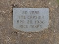 Image for City of Rice Time Capsule - Rice, TX
