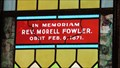 Image for Reverend Morell Fowler Window - St. James Church - Deer Lodge, MT