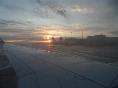 An early morning arrival from HEL on Monday, May 13th, 2013.