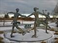 Image for Les trois patineuses, Parc Beauséjour, Rimouski, Québec