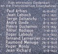 Image for French Resistance Fighters Plaque, Brandenburg (Havel), Germany