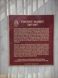 Image for CNHS - Vincent Massey 1887 - 1967 ~ Toronto