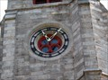 Image for Grace Episcopal Church Clock.  Amherst, MA