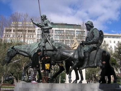 Don Quijote De La Mancha And Sancho Panza Plaza España Madrid Equestrian Statues On Waymarking