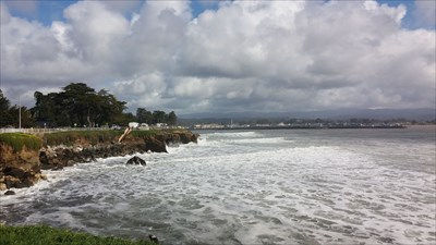 Steamer Lane, where lots of surfing is done