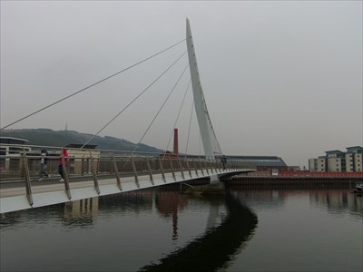 Lord Abercrombie visited the Sail Bridge