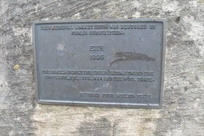 ...the 1995 rebuild plaque.