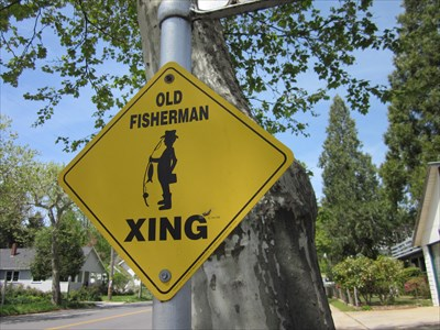 Old Fisherman Xing Sign