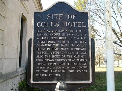 Moorestown Coles Hotel New Jersey Historical Markers On Waymarking