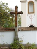 Image for Cross at western wall of the Church of St. Peter and St. Paul in Petrovice