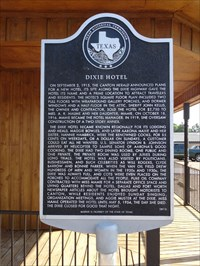 View Waymark Gallery Dixie Hotel In Texas Historical Markers