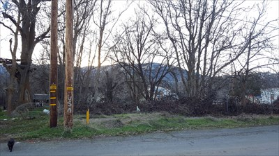 View looking towards BM from across the street and where the former Hornbrook Hotel once stood.