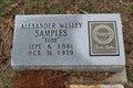 Image for Alexander Wesley Samples - Dye Mound Cemetery - Montague County, TX