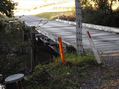 A wooden Plank Bridge on Kennedys Gap Road, Coolongolook, NSW.1600, Friday, 12 August, 2016