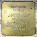 Image for Stolpersteine Eefina Vleeschblok - Musselkanaal NL
