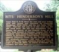 Image for Site: Henderson's Mill - 044-18 - DeKalb Co., Ga.