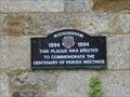 Image for Parish Meeting Plaque - Village Hall, Rockingham, Northamptonshire, UK