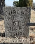 Image for Charlie Williams - Red Rock Church Cemetery, Byars, Oklahoma