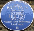Image for Vera Brittain and Winifred Holtby - Doughty Street, London, UK