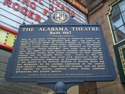 the alabama theater birmingham alabama alabama