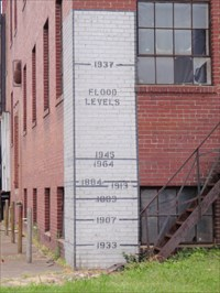 Tell City Indiana >> Ohio River Flood Levels Tell City In High Level Marks On