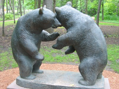 Grizzly Bear Cubs Winnipeg Manitoba Bear Statues On