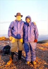 My son and I on Baldy