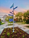 Image for Signposts of partner cities in Rybnik