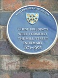 Image for Blue Plaque, Mill Street Infirmary, Kidderminster, Worcestershire, England