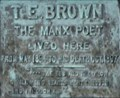 Image for T. E. Brown - The Doctor - Memorial Plaque - Ramsey, Isle of Man